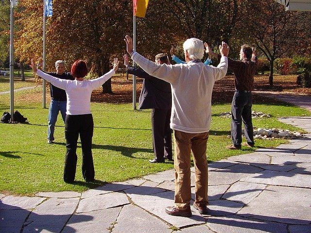Exercices dans un parc
